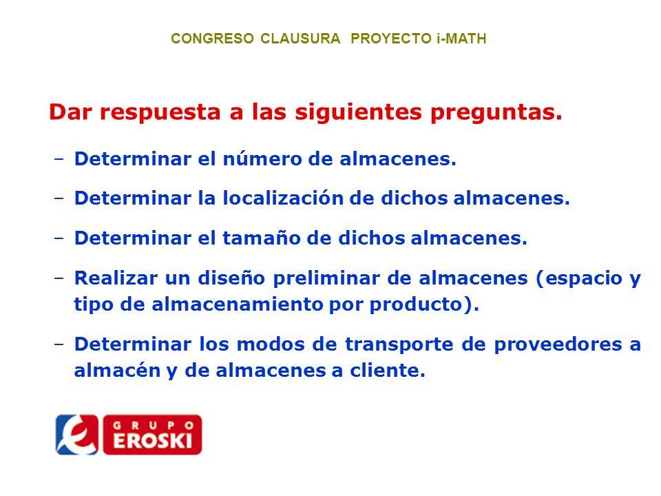 CONGRESO CLAUSURA PROYECTO i-MATH Primera propuesta de mejora.