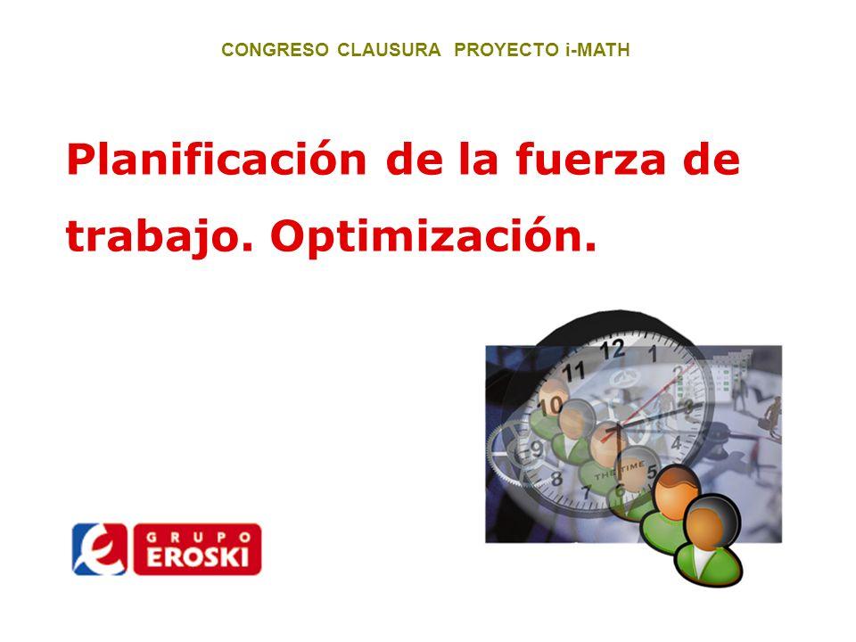 CONGRESO CLAUSURA PROYECTO i-MATH Elección: Cordero y Galletas, Aprovisionamiento Predictivo Basado en el control del stock y en un cálculo de previsión de salidas.