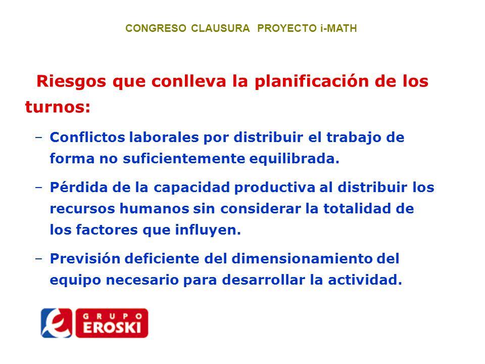 CONGRESO CLAUSURA PROYECTO i-MATH 1.- Series diarias de referencias.