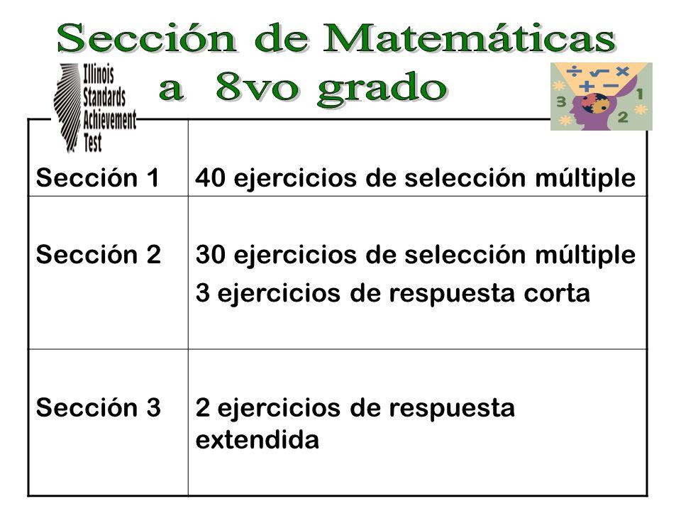 Sección 140 ejercicios de selección múltiple Sección 230 ejercicios de selección múltiple 3 ejercicios de respuesta corta Sección 32 ejercicios de res