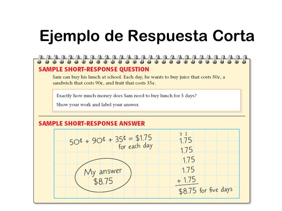 Ejemplo de Respuesta Corta