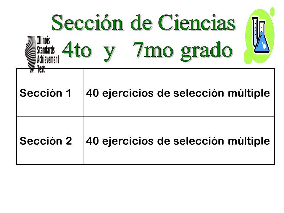 Sección 140 ejercicios de selección múltiple Sección 240 ejercicios de selección múltiple