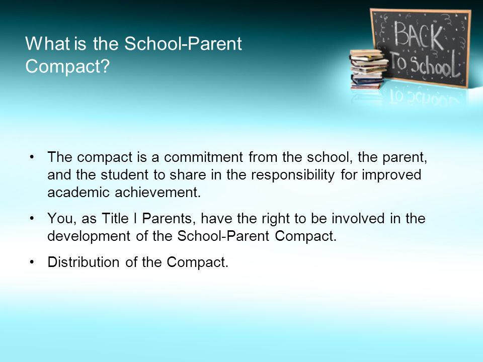 What is the School-Parent Compact.