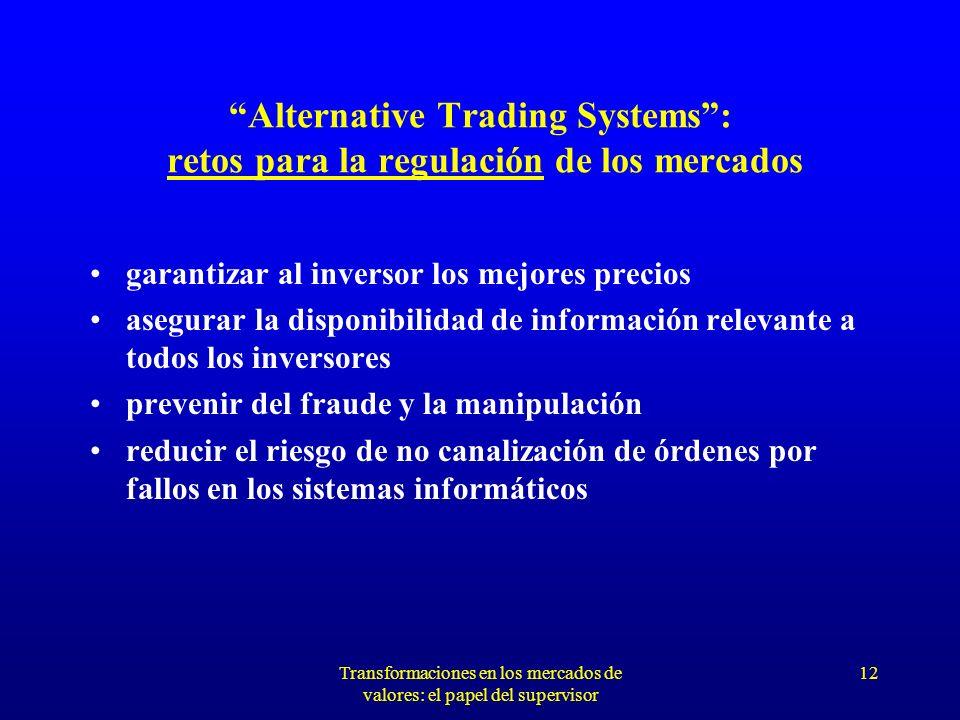 Transformaciones en los mercados de valores: el papel del supervisor 11 ARMONIZACIÓN DE NORMATIVA ¿Institución supervisora competente .