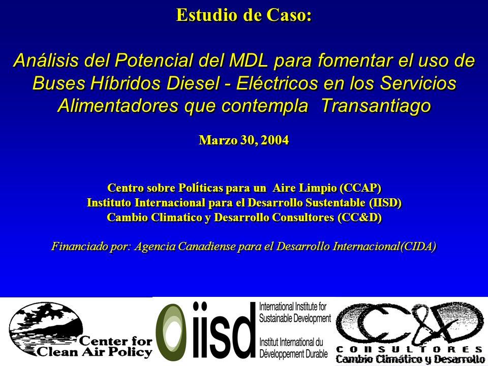 Estudio de Caso: Análisis del Potencial del MDL para fomentar el uso de Buses Híbridos Diesel - Eléctricos en los Servicios Alimentadores que contempl