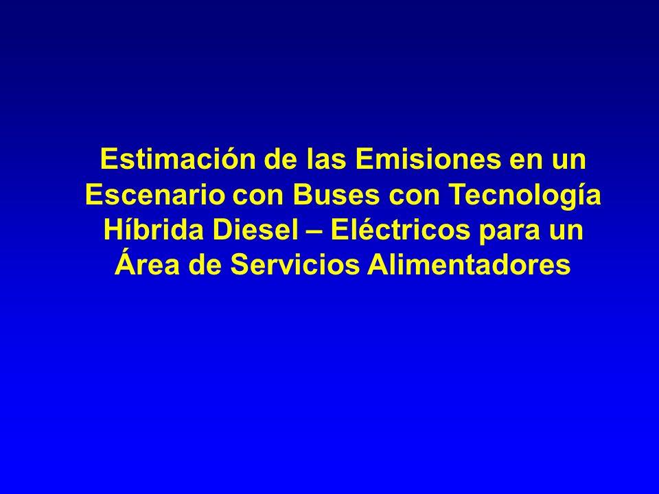 Estimación de las Emisiones en un Escenario con Buses con Tecnología Híbrida Diesel – Eléctricos para un Área de Servicios Alimentadores