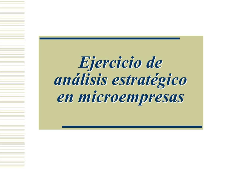 Ejercicio de análisis estratégico en microempresas