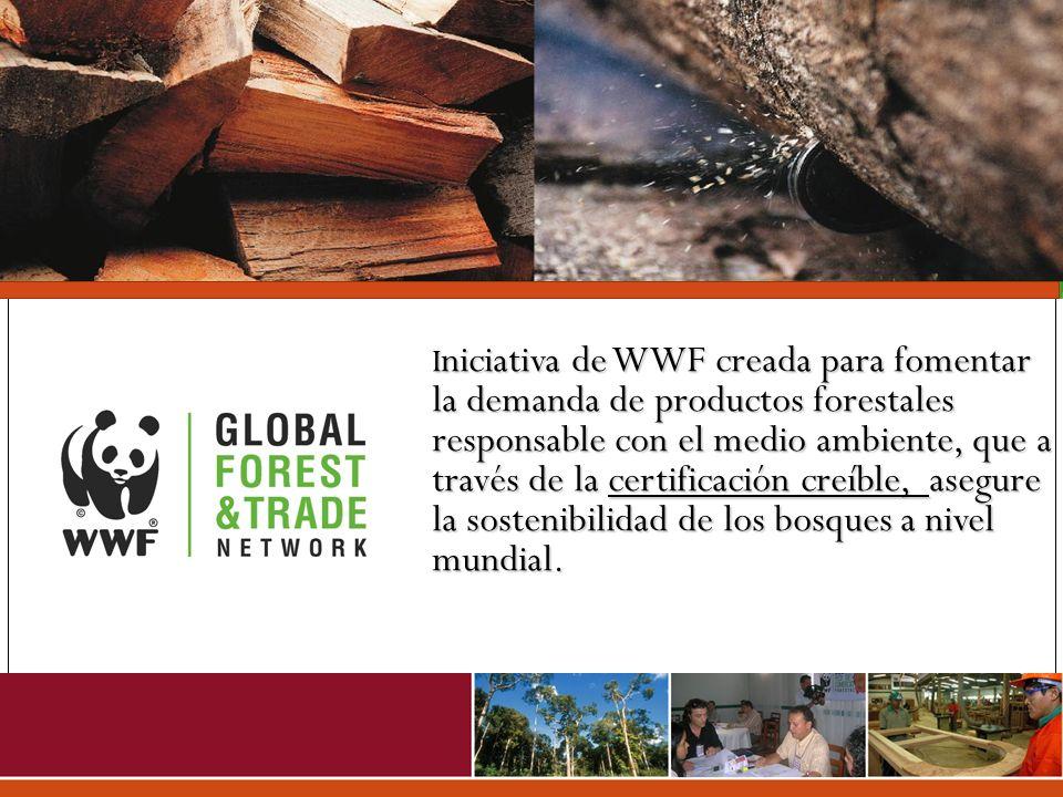 I niciativa de WWF creada para fomentar la demanda de productos forestales responsable con el medio ambiente, que a través de la certificación creíble
