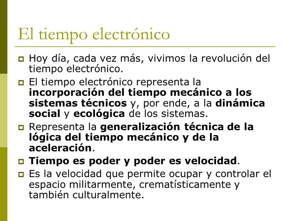 El tiempo electrónico Hoy día, cada vez más, vivimos la revolución del tiempo electrónico.