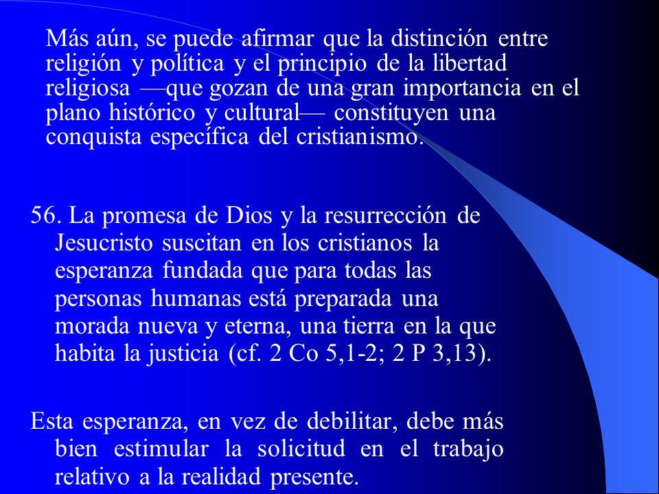 50. La comunidad política y la Iglesia, en su propio campo, son independientes y autónomas, aunque ambas estén, a título diverso, al servicio de la vo