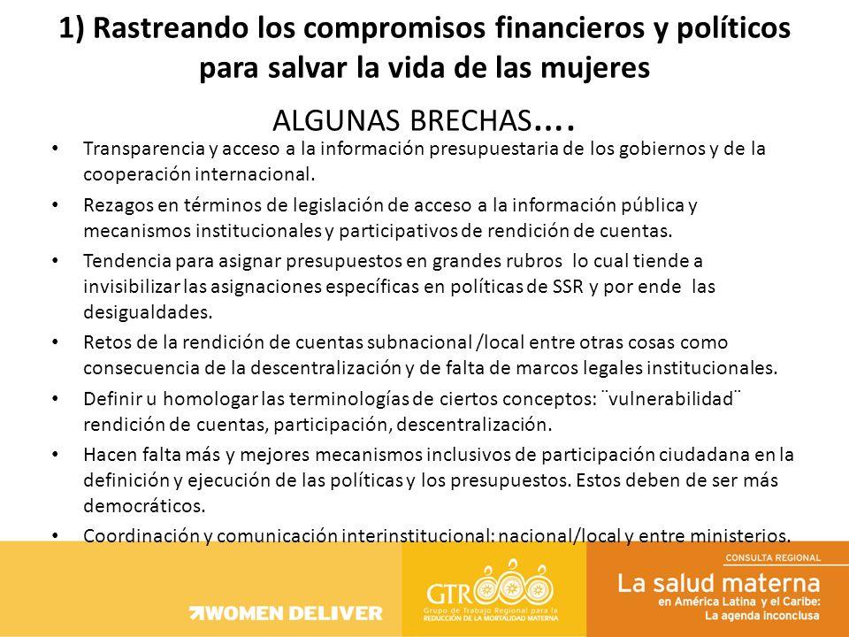 Transparencia y acceso a la información presupuestaria de los gobiernos y de la cooperación internacional. Rezagos en términos de legislación de acces