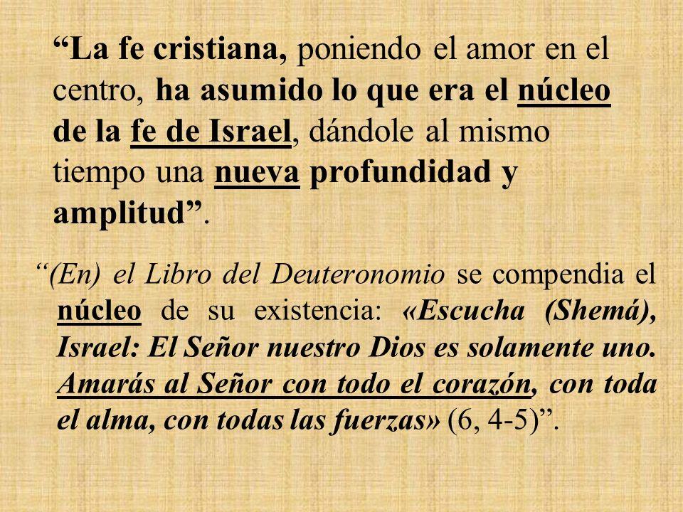 (En) el Libro del Deuteronomio se compendia el núcleo de su existencia: «Escucha (Shemá), Israel: El Señor nuestro Dios es solamente uno.