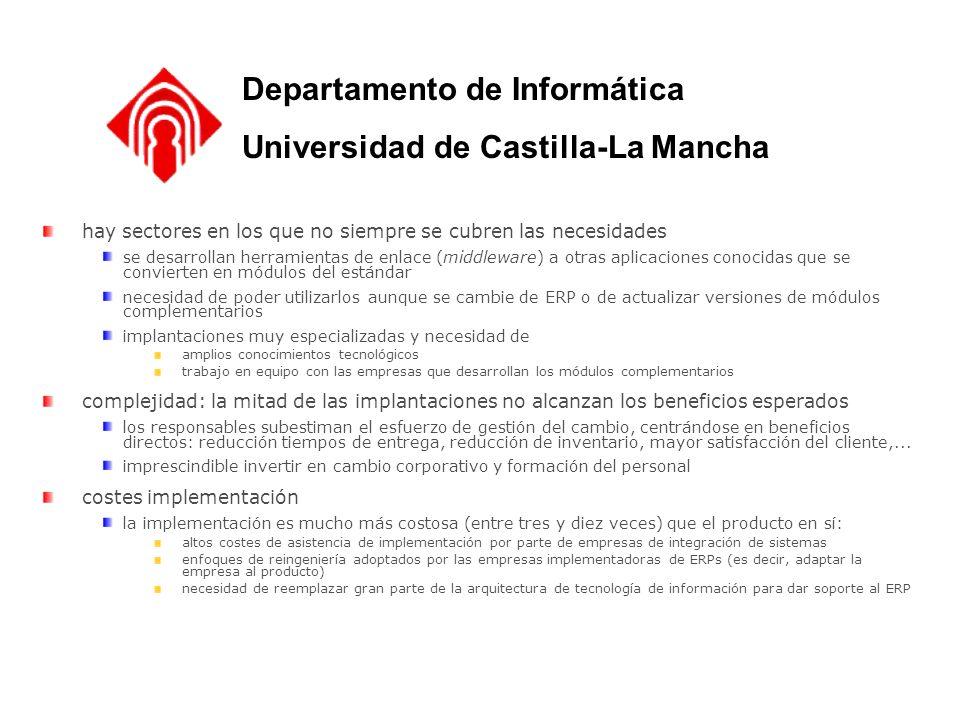 Departamento de Informática Universidad de Castilla-La Mancha hay sectores en los que no siempre se cubren las necesidades se desarrollan herramientas