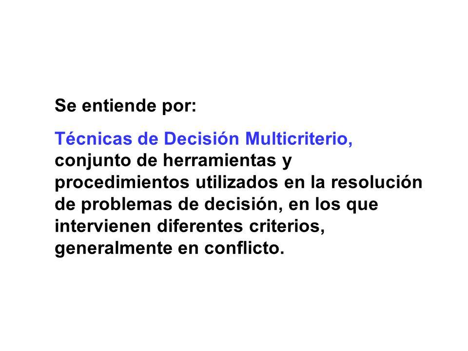 Proceso Analítico Jerárquico (AHP) Objetivo (decisión a adoptar) Atributo 1 (característica) Proyecto 2Proyecto 3Proyecto 1 Atributo 2 (característica) Atributo 3 (característica) Criterio 1 Criterio 2 Criterio 3 Criterio 1 Criterio 2 Criterio 3