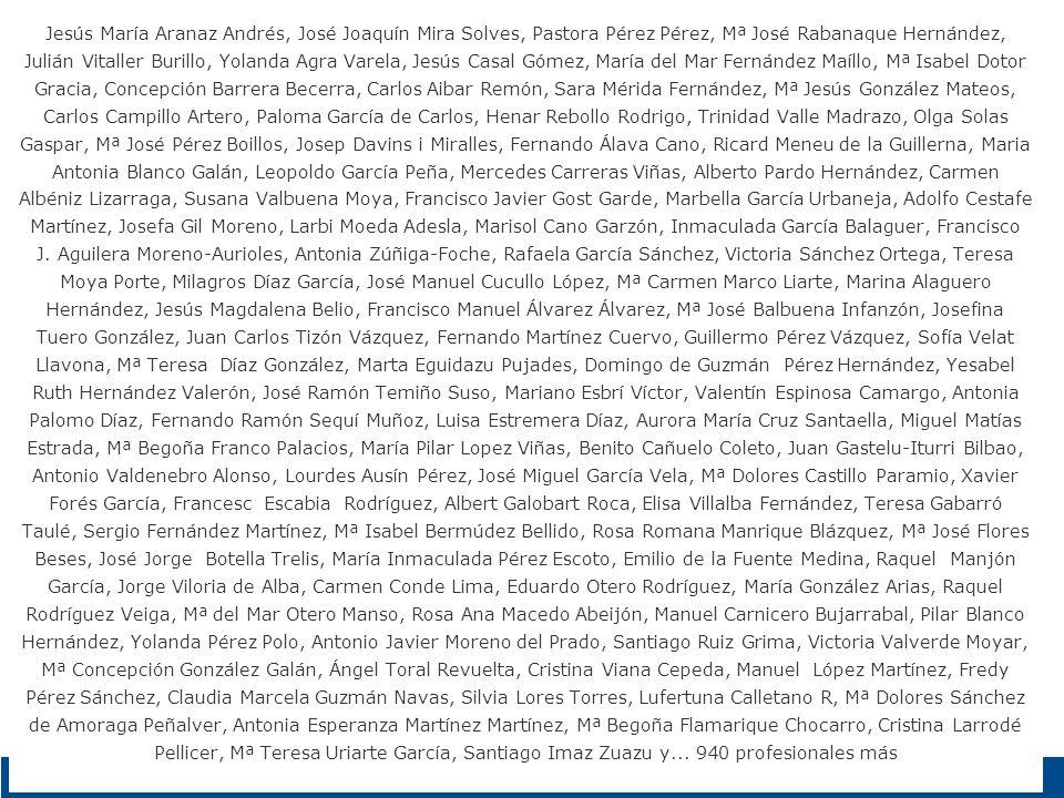 Jesús María Aranaz Andrés, José Joaquín Mira Solves, Pastora Pérez Pérez, Mª José Rabanaque Hernández, Julián Vitaller Burillo, Yolanda Agra Varela, J