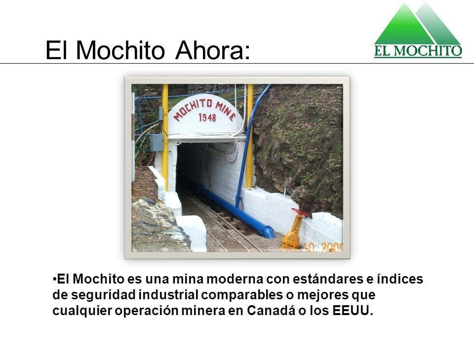 El Mochito Ahora: El Mochito es una mina moderna con estándares e índices de seguridad industrial comparables o mejores que cualquier operación minera