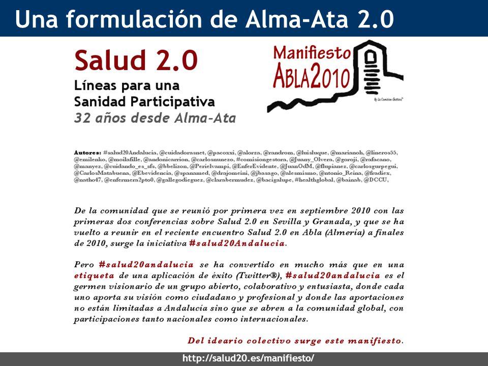 Una formulación de Alma-Ata 2.0 http://salud20.es/manifiesto/