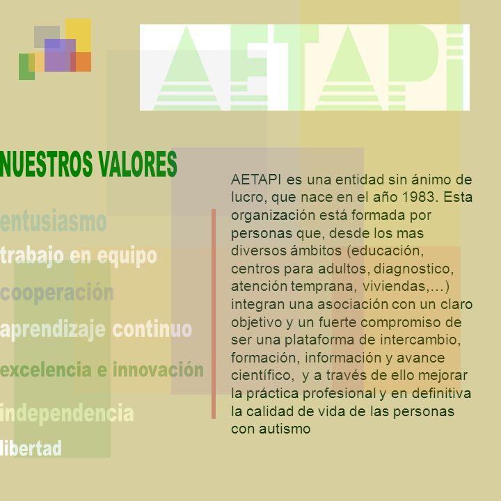 AETAPI es una entidad sin ánimo de lucro, que nace en el año 1983. Esta organización está formada por personas que, desde los mas diversos ámbitos (ed
