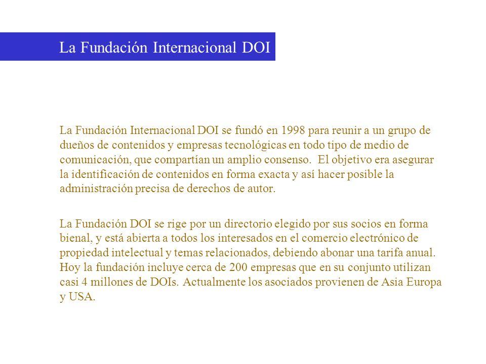 La Fundación Internacional DOI se fundó en 1998 para reunir a un grupo de dueños de contenidos y empresas tecnológicas en todo tipo de medio de comuni