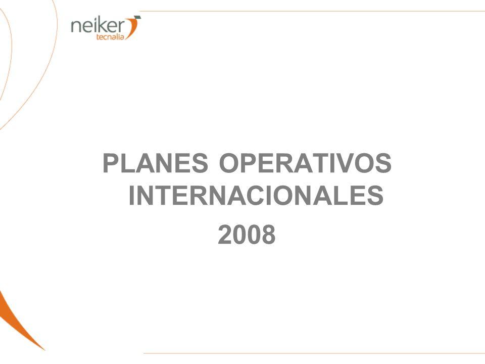 PLANES OPERATIVOS INTERNACIONALES 2008