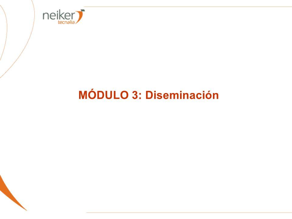 MÓDULO 3: Diseminación
