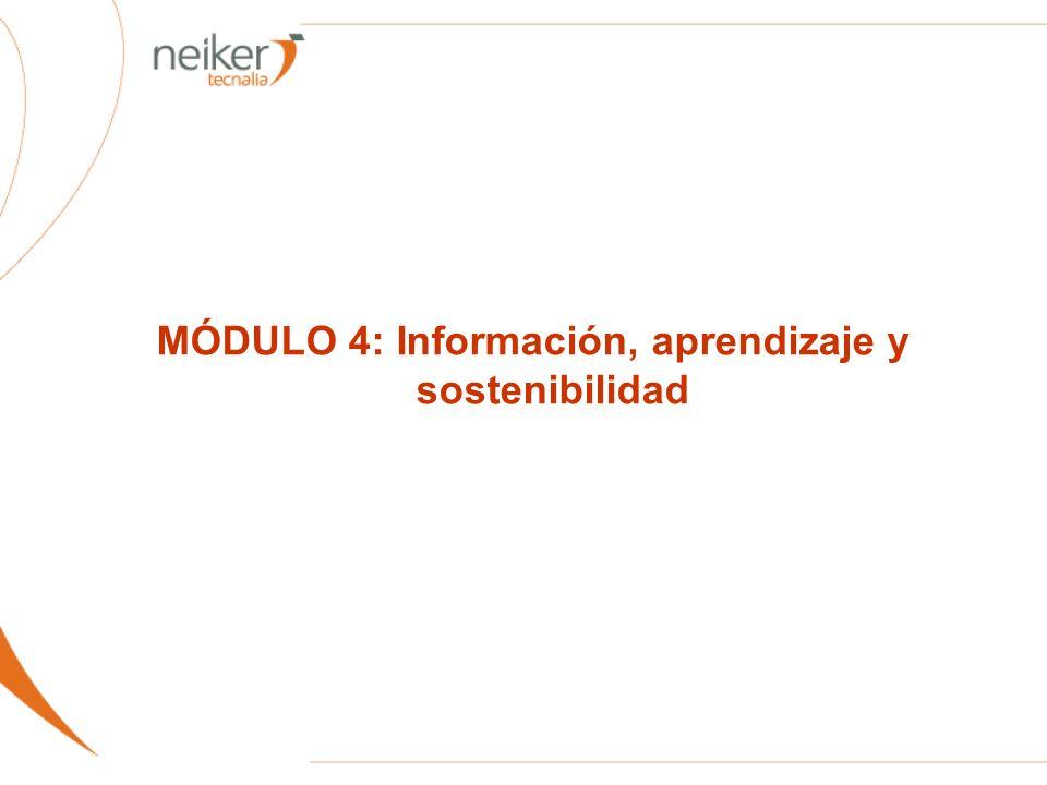 MÓDULO 4: Información, aprendizaje y sostenibilidad