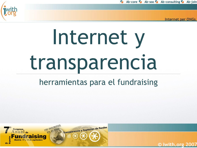 Internet y transparencia herramientas para el fundraising