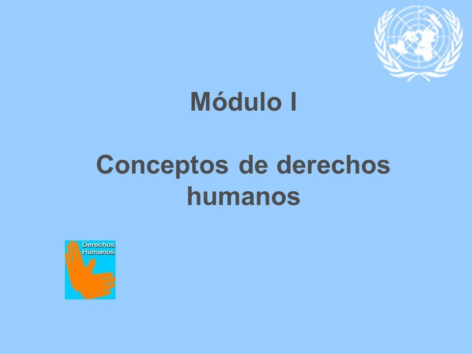 Módulo I Conceptos de derechos humanos