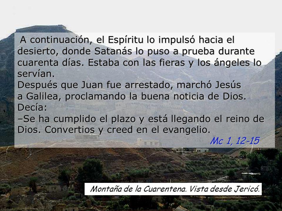 Desierto de Judá. No sólo de pan vive el hombre, sino de toda palabra que sale de la boca de Dios.