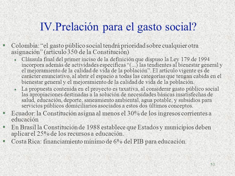 49 América Latina (18 países): Gasto social como porcentaje del PIB en 1990-1991, 1996-1997 y 2000-2001 Fuente: Cepal, División de Desarrollo Social,