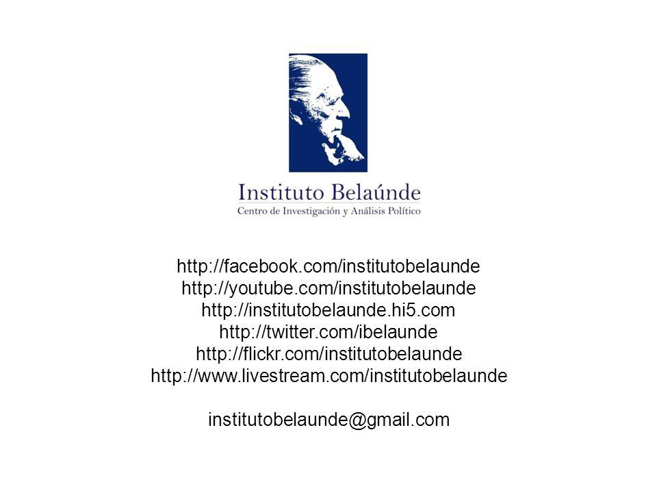 http://facebook.com/institutobelaunde http://youtube.com/institutobelaunde http://institutobelaunde.hi5.com http://twitter.com/ibelaunde http://flickr