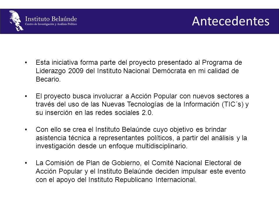 1er Proceso El 06 de septiembre se llevaron a cabo las elecciones internas para la elección del Secretario General de Acción Popular, el cual contaba con dos candidatos.
