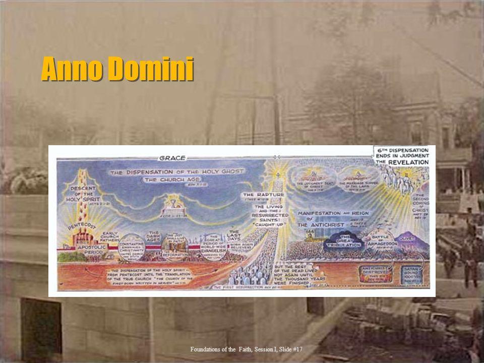 Anno Domini Foundations of the Faith, Session I, Slide #17