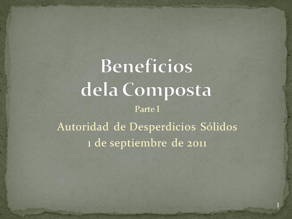 Autoridad de Desperdicios Sólidos 1 de septiembre de 2011 1 Parte I