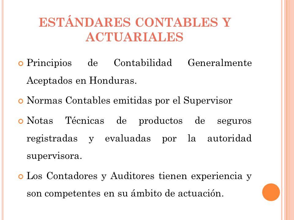ESTÁNDARES CONTABLES Y ACTUARIALES Principios de Contabilidad Generalmente Aceptados en Honduras. Normas Contables emitidas por el Supervisor Notas Té