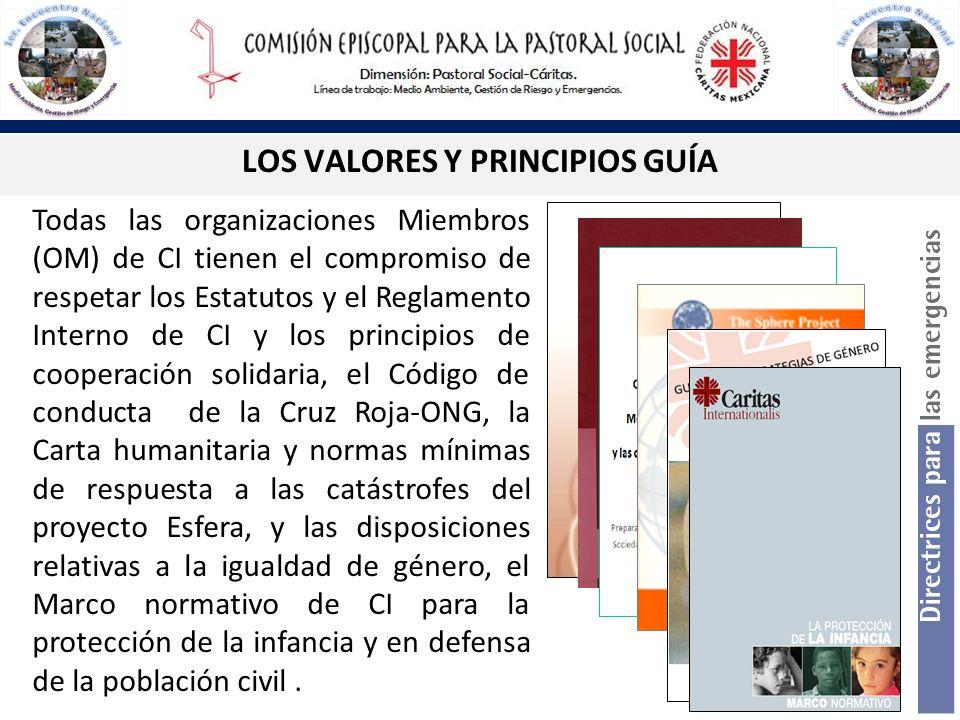 LOS VALORES Y PRINCIPIOS GUÍA Todas las organizaciones Miembros (OM) de CI tienen el compromiso de respetar los Estatutos y el Reglamento Interno de C