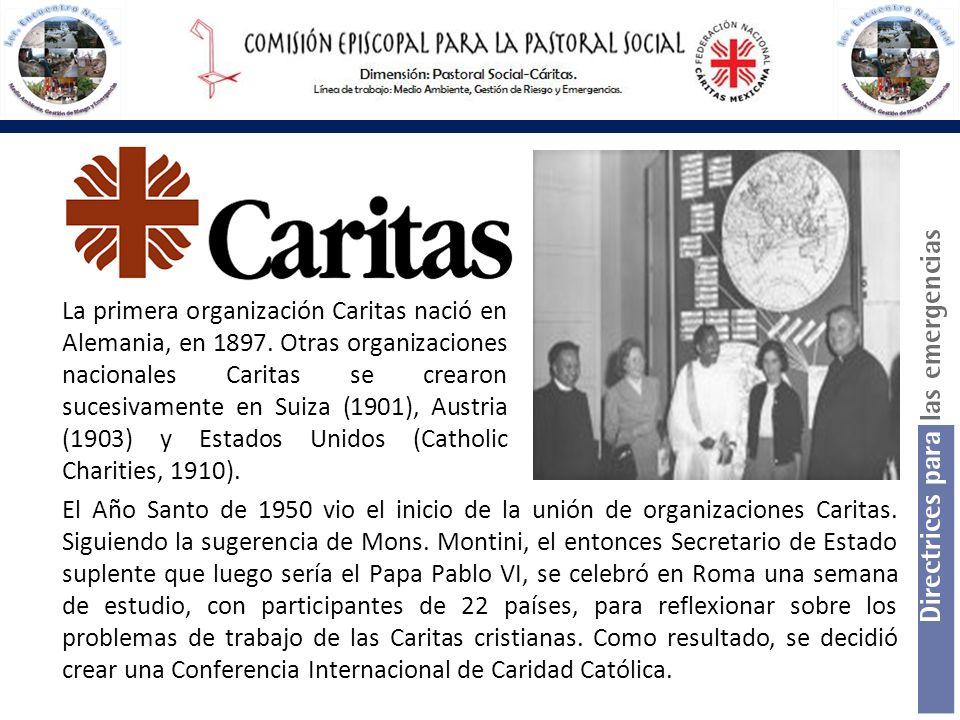 El Año Santo de 1950 vio el inicio de la unión de organizaciones Caritas. Siguiendo la sugerencia de Mons. Montini, el entonces Secretario de Estado s