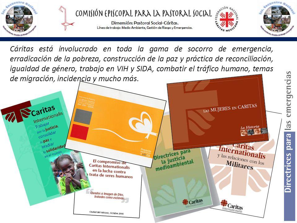 Cáritas está involucrado en toda la gama de socorro de emergencia, erradicación de la pobreza, construcción de la paz y práctica de reconciliación, ig
