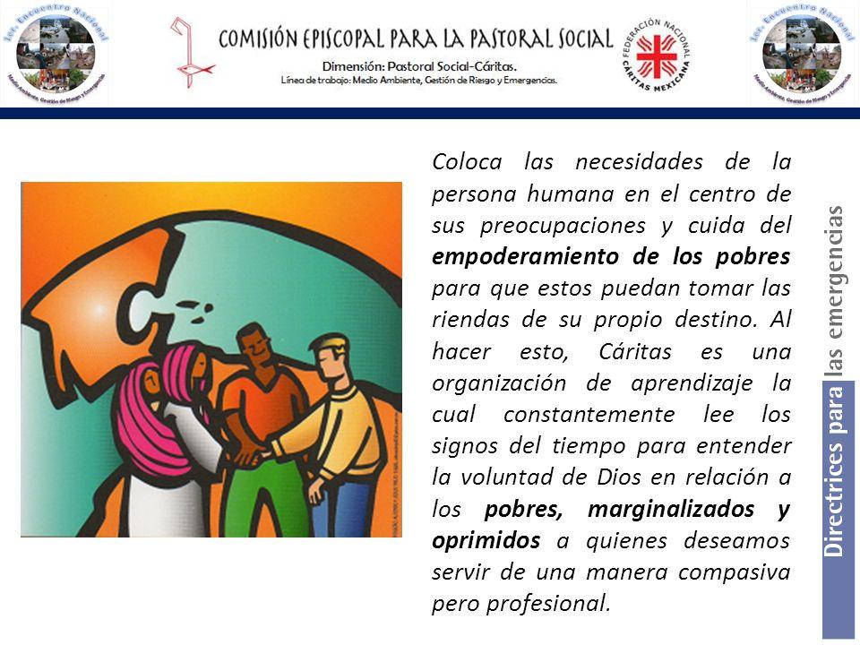 Mejorar la coordinación de la respuesta en caso de emergencia es un objetivo central de la acción de Caritas Internationalis.