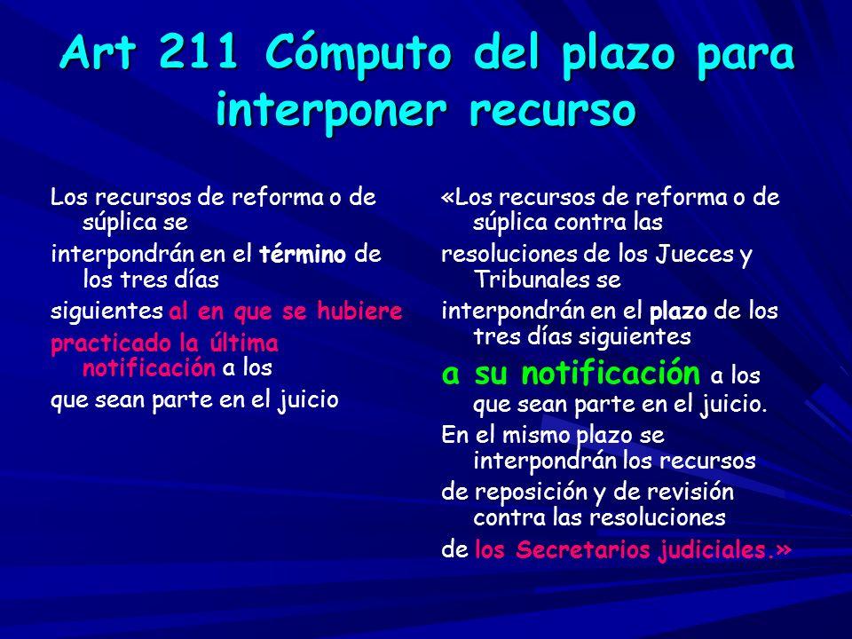Reformas de la LO 1/09 -Art.