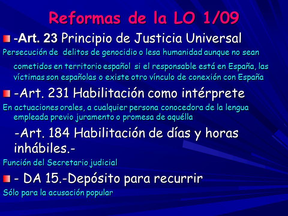 Reforma de la Ley de Asistencia Jurídica gratuita 1/2006 –- Art.