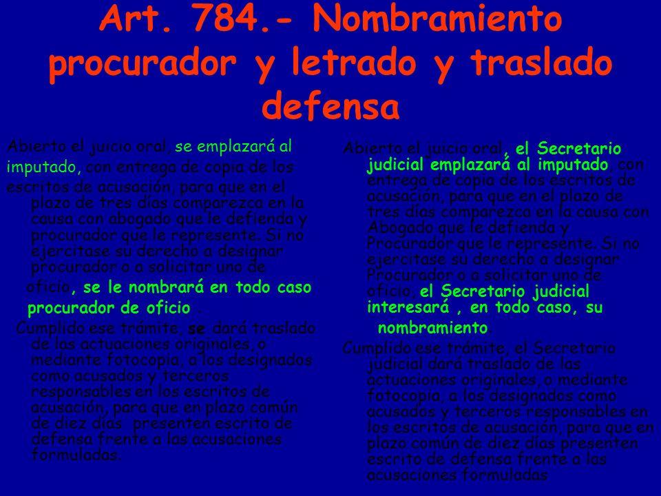 ART.789 Notificación de sentencias «4.