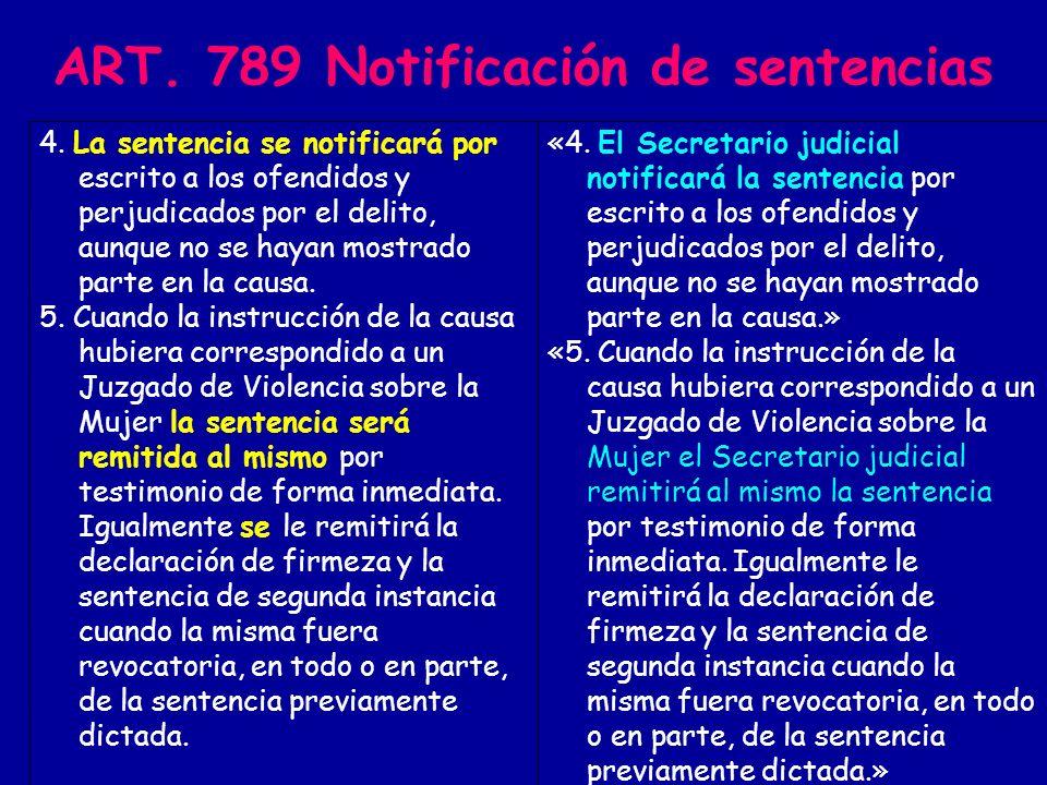ART.965 Remisión del expediente Juicio de faltas 1.