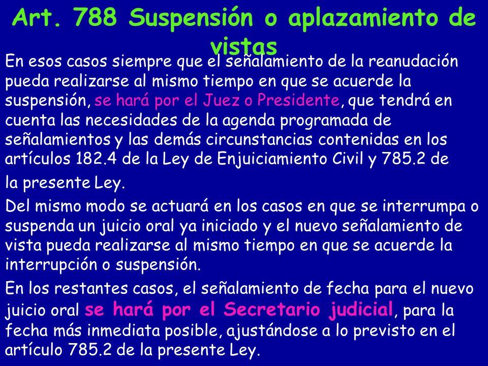Art.789 Sentencia in voce «2.