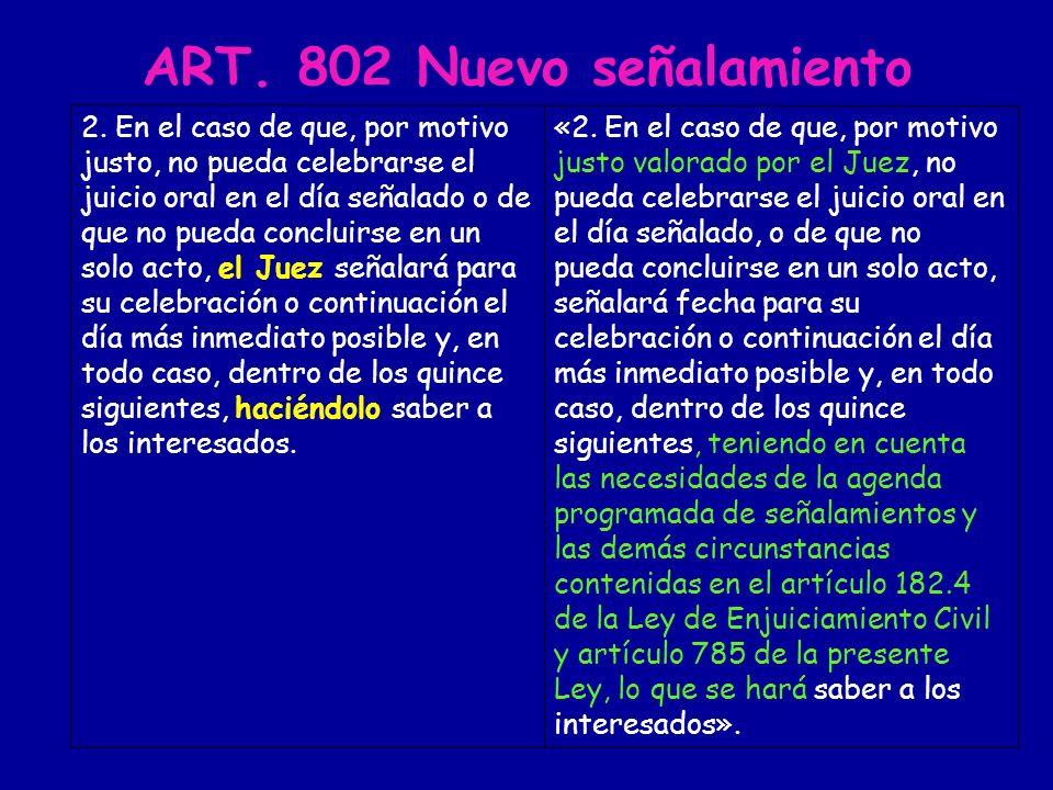 COMPETENCIAS RESERVADAS EXPRESAMENTE AL JUEZ O MAGISTRADO - Señalamiento en el mismo acto en que se suspende el juicio - Información sobre las consecuencias de la conformidad art.