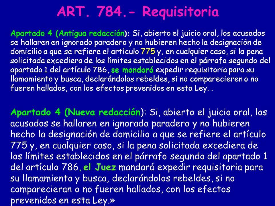 EJECUCIÓN Art. 794 (procedimiento abreviado) Art.984 Art 987 Art.988 Art. 989 Art. 990 Art. 998