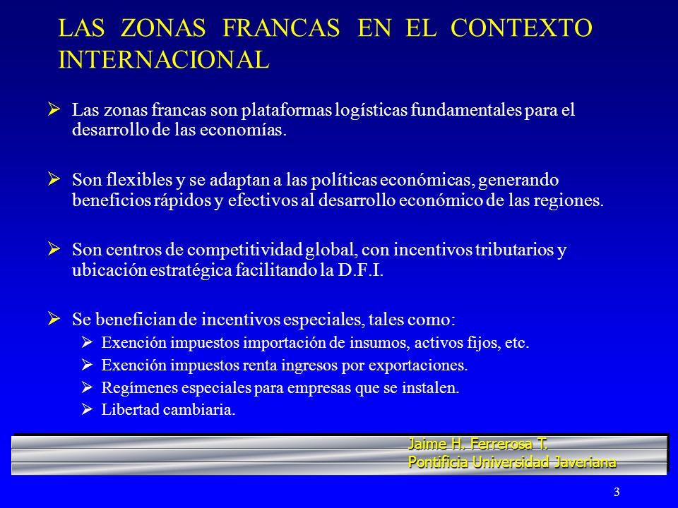 4 LAS ZONAS FRANCAS EN EL CONTEXTO INTERNACIONAL Actualmente existen aprox.