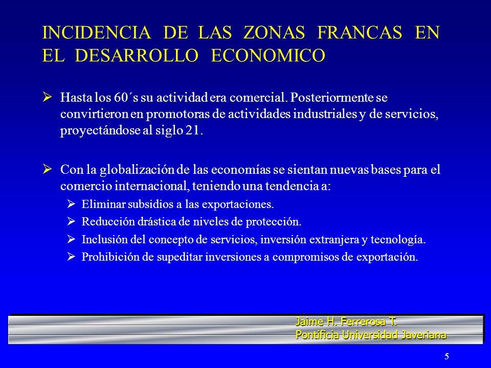 6 LAS ZONAS FRANCAS…SU CRECIMIENTO Y EL SECTOR LABORAL Objetivo primordial de las zonas francas es contribuir a generar empleo, divisas, inversión y producción.