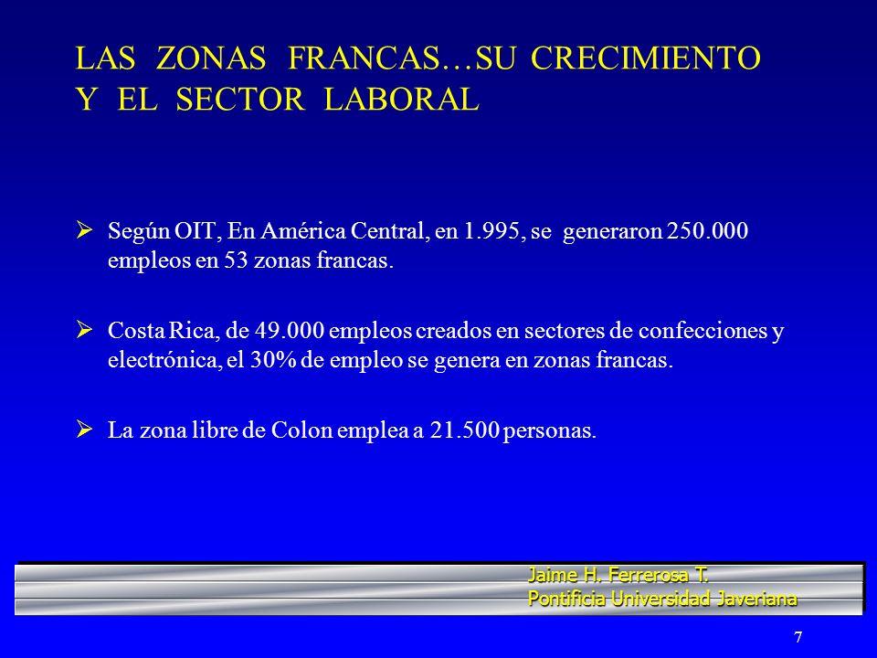 18 COLOMBIA...CUATRO REGIONES MOTRICES Y SUS ZONAS FRANCAS Región I.