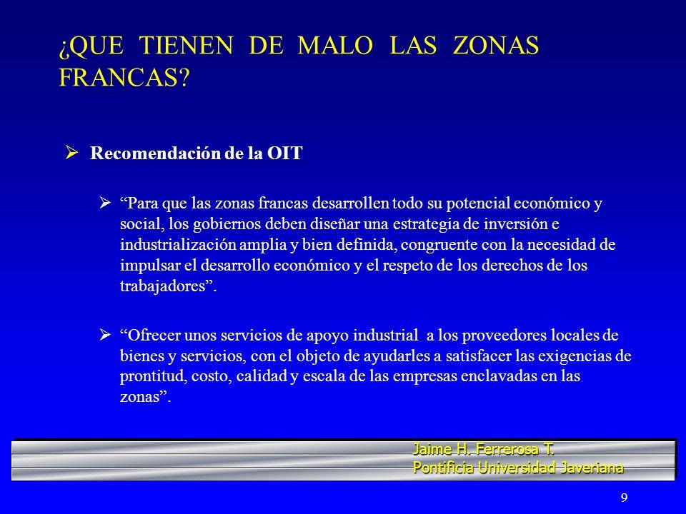 20 COLOMBIA...CUATRO REGIONES MOTRICES Y SUS ZONAS FRANCAS Región IV.